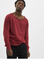 Urban Classics Pullover Long Open Edge Terry red