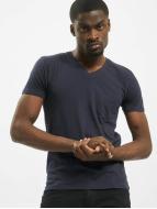 Urban Classics T-Shirt Pocket blue