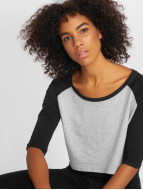 Urban Classics T-Shirt Cropped 3/4 Raglan gray