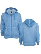 Urban Classics Zip Hoodie Spray Dye blau