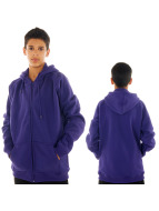 Urban Classics Zip Hoodie Kids purple