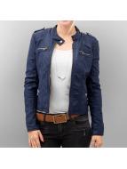 Vero Moda Leather Jacket blue