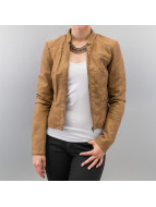 Vero Moda Leather Jacket brown