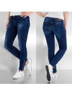 Vero Moda Skinny Jeans Flash Sateen Low Cut blue