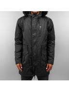 VSCT Clubwear Coats Coated Hooded black