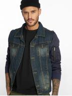 VSCT Clubwear Bomber Sleeves Denim Jacket Denim Navy