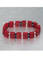 Wood Fellas armband rood