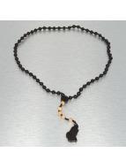 Wood Fellas Necklace Rosary Hands black