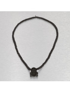 Wood Fellas Necklace Star Skull black