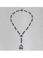 Wood Fellas Necklace MLB NY Yankees Team Rosary blue