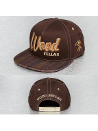 Wood Fellas snapback cap bruin
