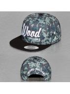 Wood Fellas Da Wood Snapback Cap Green/Wood Camo