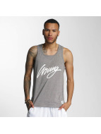 Wrung Division Tank Tops Signed gray