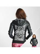 Yakuza Leather Jacket Believe black