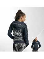 Yakuza Leather Jacket Believe Faux blue