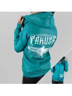 Yakuza Leather Jacket Dragon Fly turquoise