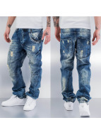 Yakuza Straight Fit Jeans blau