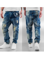 Yakuza Straight fit jeans blauw