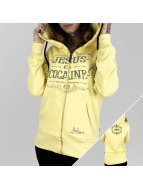 Yakuza Zip Hoodie Jesus or Cocaine yellow