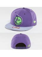 Yums Snapback Cap Black Tag Patch Face purple
