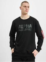 Alpha Industries Camo Print Sweatshirt Black/Black image number 2