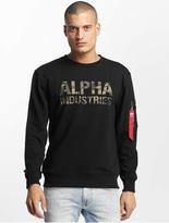 Alpha Industries Camo Print Sweatshirt Black/Black image number 0