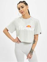 Ellesse Alberta Cropped T-Shirt Light Grey image number 2