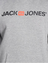 Jack & Jones jjeCorp Logo Sweat Hoody Light Grey Melange image number 1