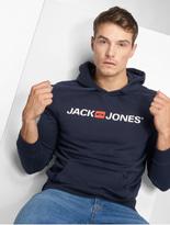Jack & Jones jjeCorp Logo Sweat Hoody Light Grey Melange