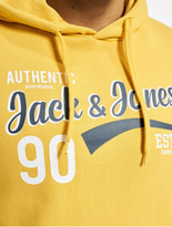 Jack & Jones jjeLogo Hoody Light Grey Melange image number 3