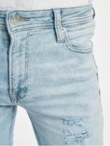 Jack & Jones jjiLiam Jjoriginal Skinny Jeans Blue Denim image number 3