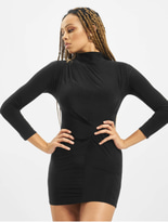 Missguided Petite High Neck Rouched Mini Dress Black image number 0