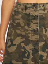 Noisy May nmSunny Camo Skirt Kalamata/Camo image number 3