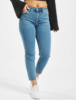 Only onlEmily High Waist ST Raw Noos Jeans Dark Blue Denim image number 2