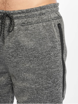 Southpole Zipper Pocket Marled Tech Fleece Shorts Marled Black image number 3