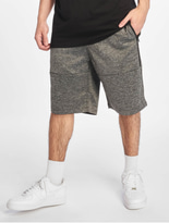 Southpole Zipper Pocket Marled Tech Fleece Shorts Marled Black