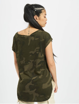 Urban Classics Camo Back Shaped T-Shirt Olive Camo image number 1