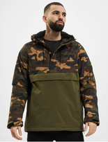Urban Classics Camo Mix Pull Over Jacket Black/Snow Camo