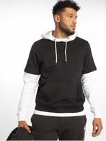 Urban Classics Double Layer Hoody Black/Charcoal image number 0