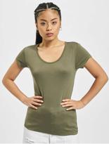 Urban Classics Ladies Basic Viscose T-Shirt Olive image number 2