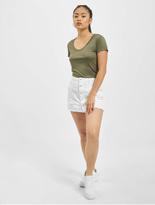 Urban Classics Ladies Basic Viscose T-Shirt Olive image number 3