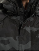 Urban Classics Camo Mix Pull Over Jacket Black/Snow Camo image number 3