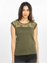 Urban Classics Top Laces T-Shirt Olive image number 2
