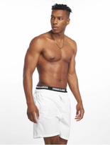 Urban Classics Two In One Swim Shorts Firered/White/Black