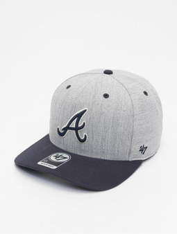 '47 MLB Atlanta Braves Storm Cloud MVP DP Snapback Cap Charcoal