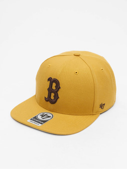 '47 MLB Boston Red Sox No Shot Captain Snapback Cap Wheat