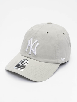 '47 MLB New York Yankees Clean Up Snapback Cap Grey