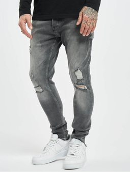 2Y Carlos Slim Fit Jeans Grey