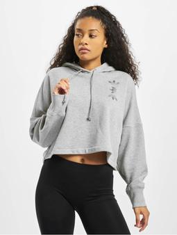 adidas Originals LRG Logo C- Hoody Medium Grey Heather/True Pink