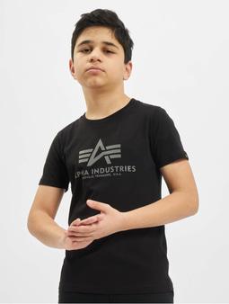 Alpha Industries Basic T-Shirt Kids/Teens Reflective Print Black